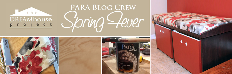 DIY Storage Bench - PARA Blog Crew Spring Fever
