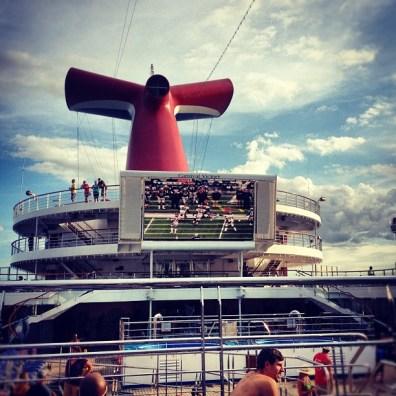 Sunday football - cruise ship style!