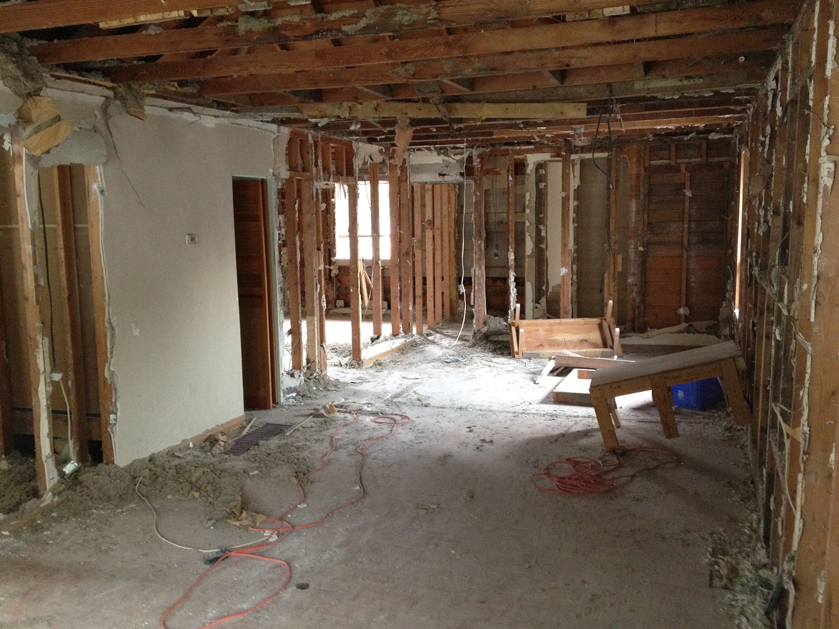 Demo shot - Looking towards the back of house