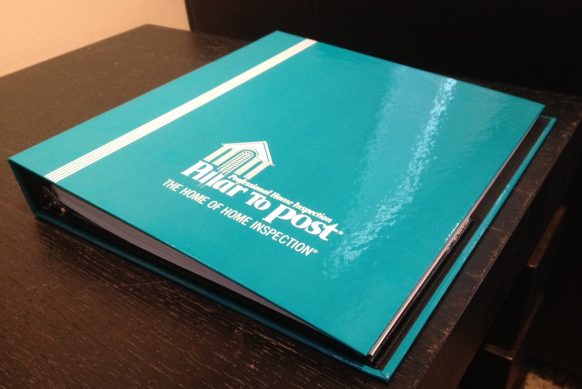 Photo: Home Inspection Binder from Pillar to Post