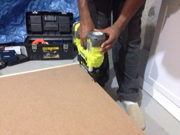 18V ONE+ Brad Nailer being put to work
