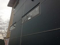 Close up of the HardiePanels & expressed joint application.