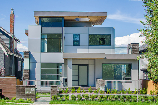 Another beautiful modern exterior via DRKDesign