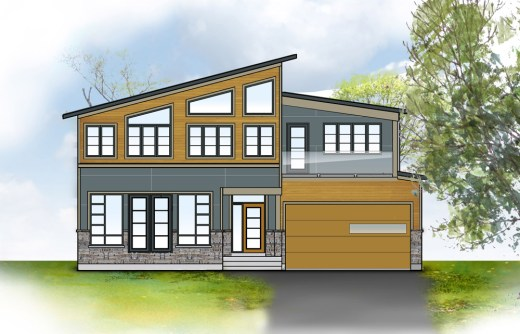 Conceptualized rendering of HardieTrim in Monterey Taupe