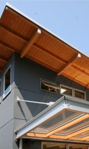 Love the mix of materials & colours on this contemporary exterior via houzz