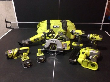Our Ryobi ONE+ collection so far