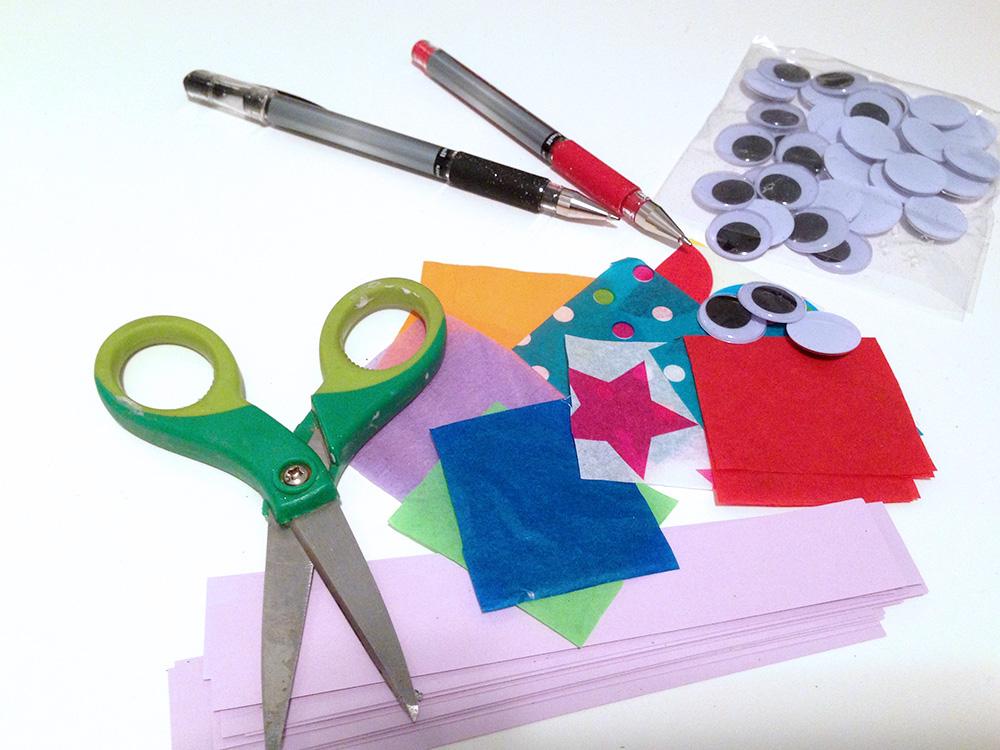 Valentine craft materials