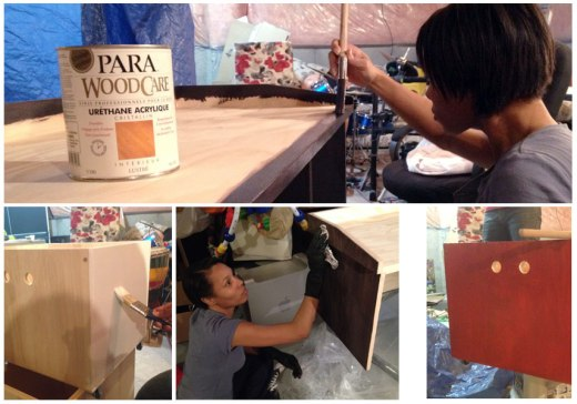 PARA Blog Crew Spring Paint projects - Staining & painting DIY Storage Bench