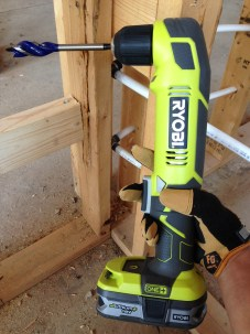 All set to try out our new Ryobi 18-Volt One+ Right Angle Drill