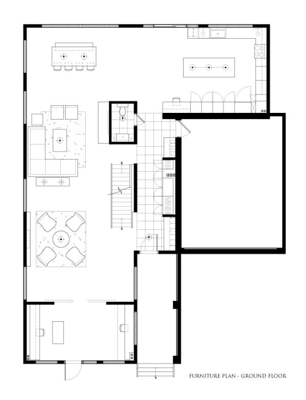 Ground Floor Interior Furniture Plan
