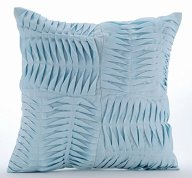 Textured blue accent pillow