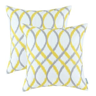 Modern geometric accent pillow