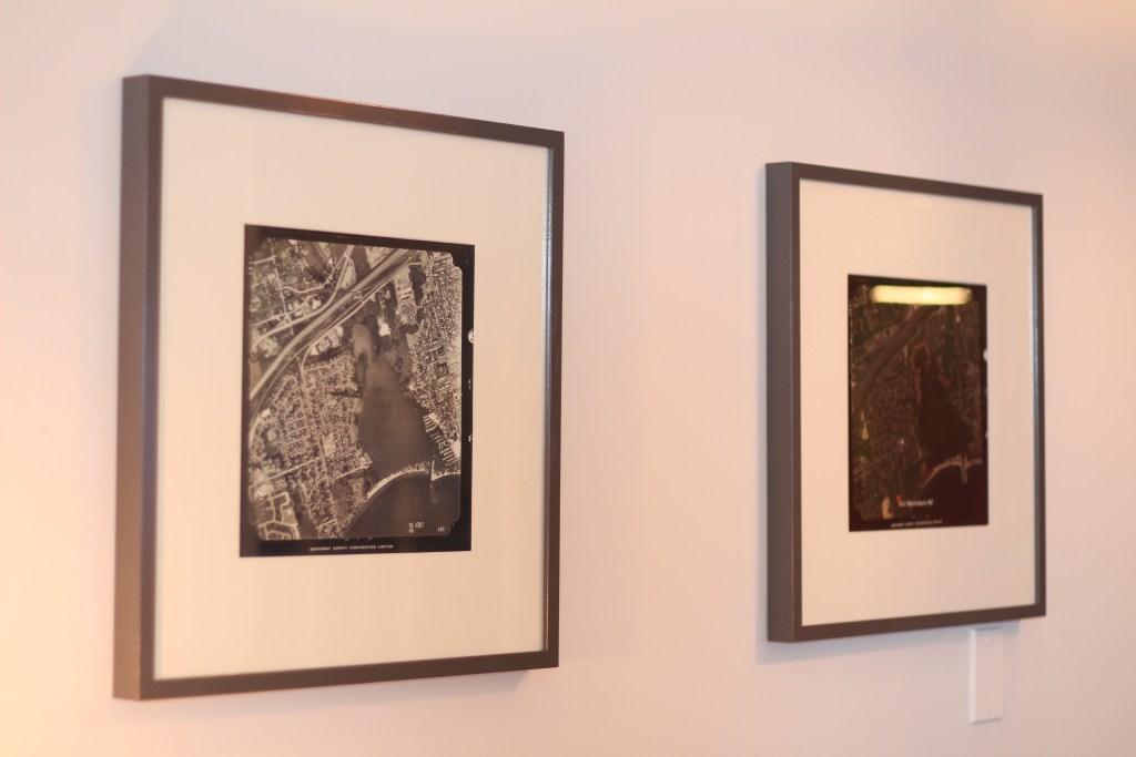 Historic Pickering photos framed