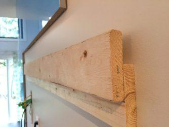 DIY hanging bracket for our wood panel