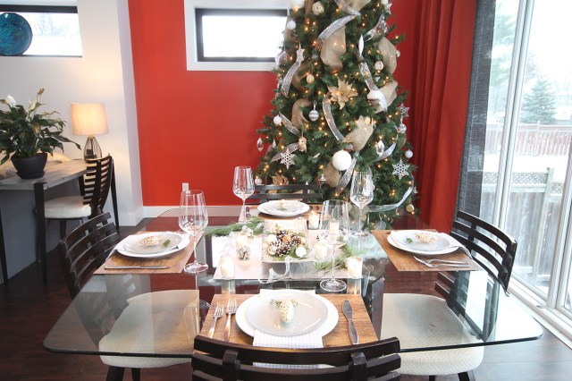 Dreamhouse Project rustic glam Christmas dining table and tree