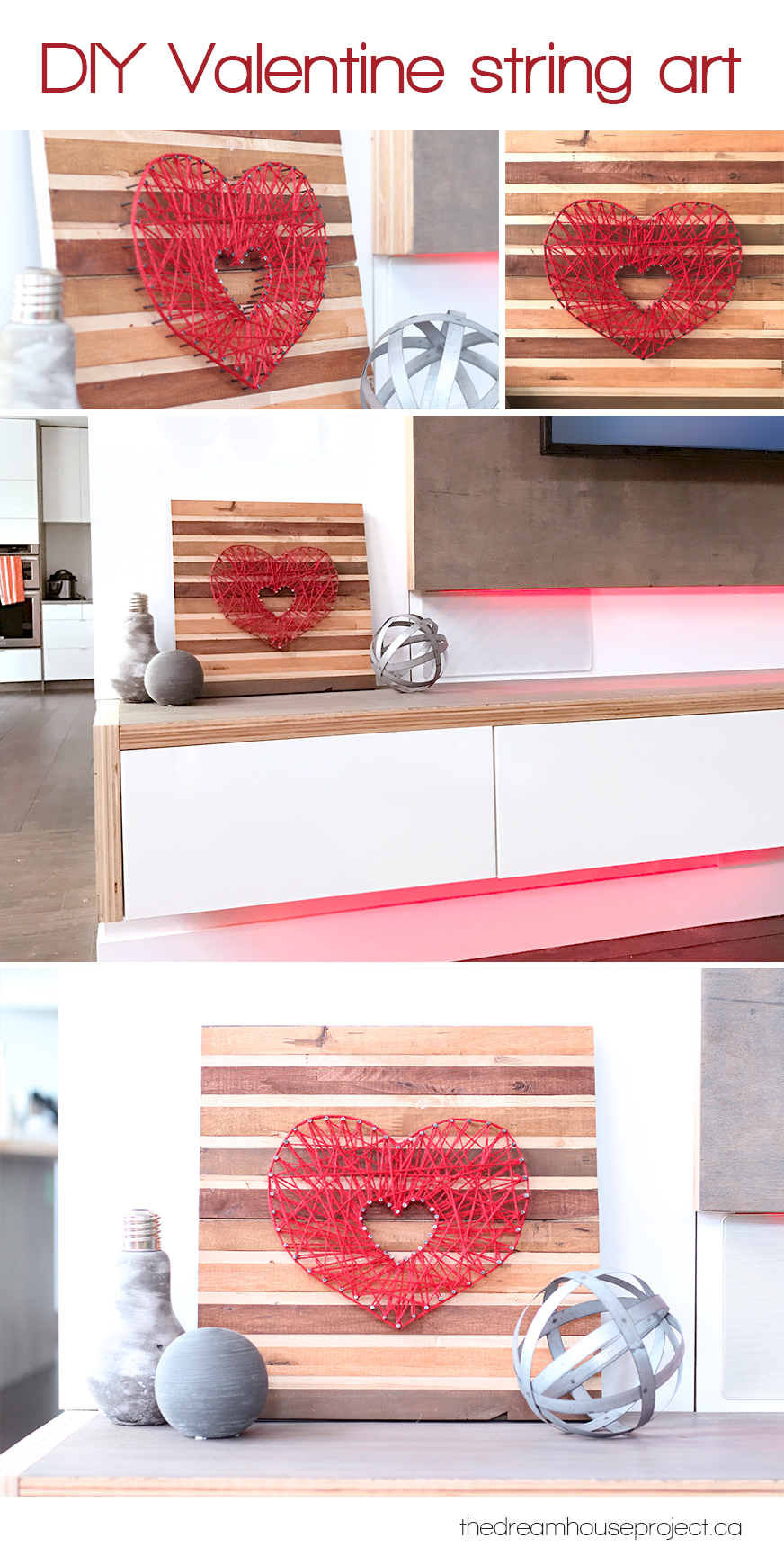 DIY Valentine String Art | The Dreamhouse Project