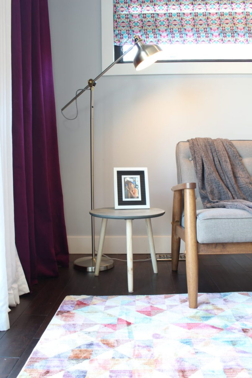 Modern sitting area with floor lamp | Dream Bedroom Reveal - The Dreamhouse Project
