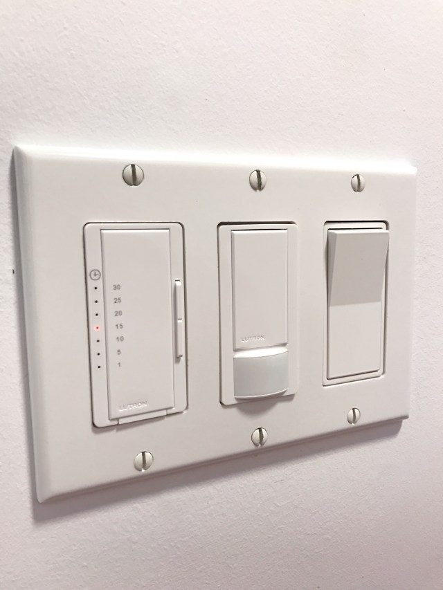 Installed Lutron switches - occupancy sensor & eco-timer