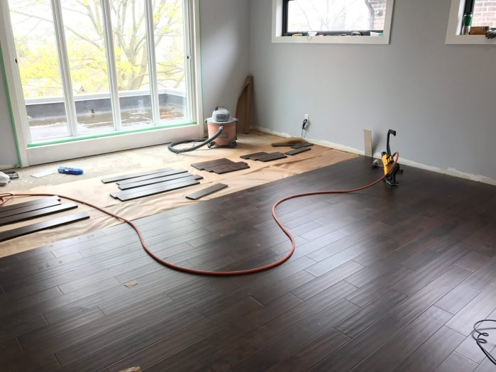 Hardwood install progress