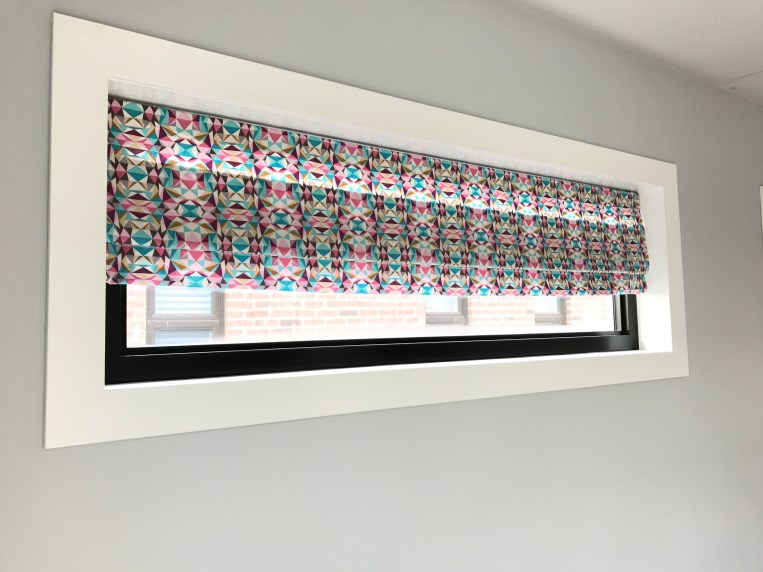 DIY faux roman blinds