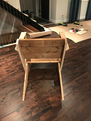 DIY Modern Muskoka Chairs - rear view