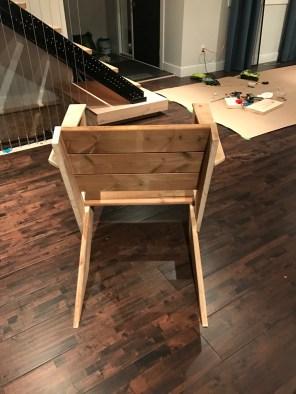 DIY Modern Muskoka Chairs - rear view