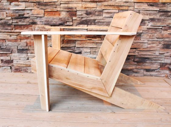 DIY Modern Muskoka Chair - side profile