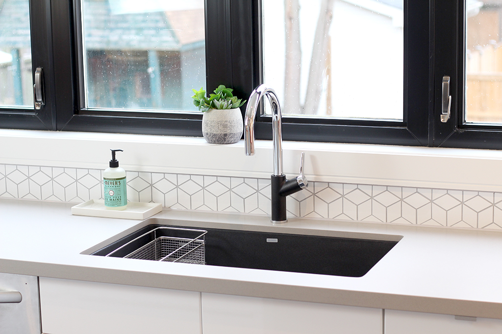 The Dreamhouse Project - Dream Kitchen Reveal featuring BLANCO Precis undermount sink & Urbena faucet in Anthracite