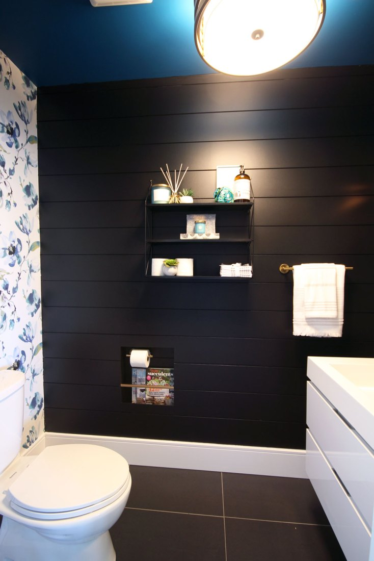 Welcome to our sleek and striking powder room reveal | The Dreamhouse Project