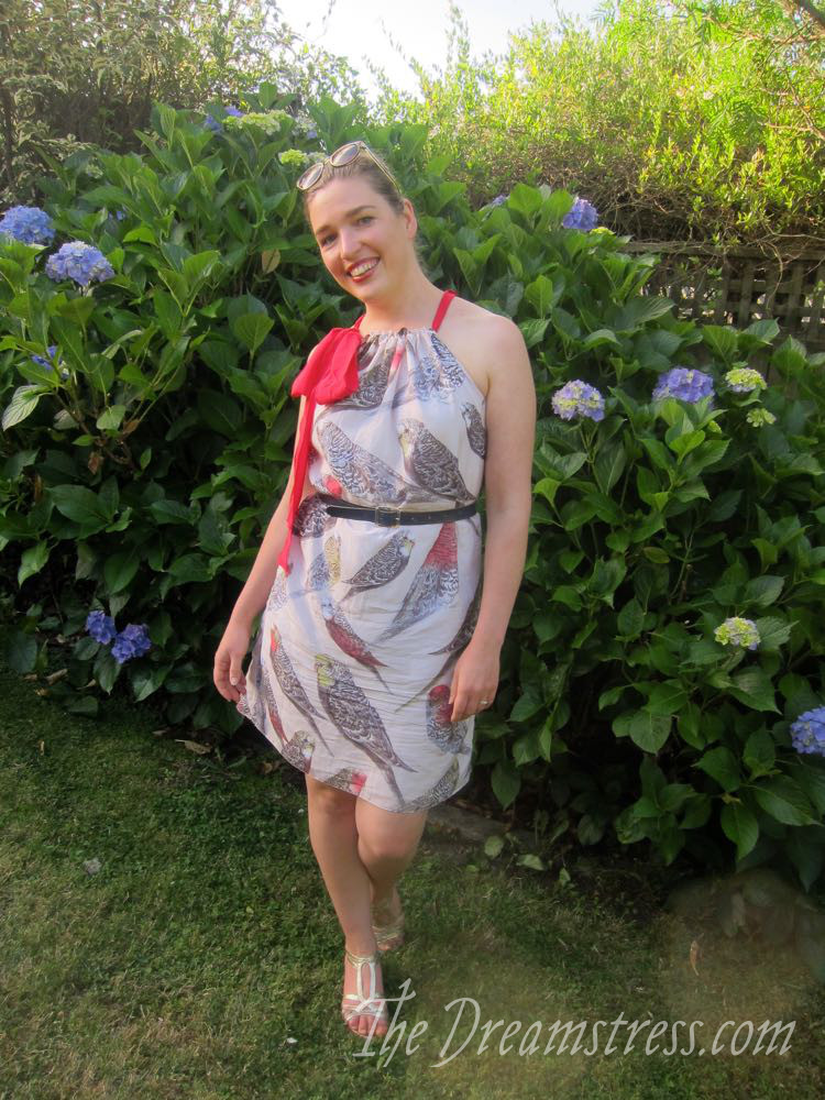Parakeet in a Pohutukawa Tree dress by The Dreamstress