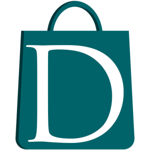 The Drexelbrook Market Website Favicon. Teal SHopping Bag with a Capital D inside