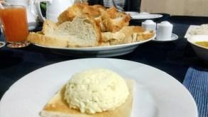 Bread and eggs for breakfast at Asnara Village, Habarana