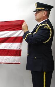 First American Flag Horizontal Fold