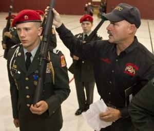 jrotc, exhibition drill, drill team