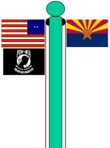 Flag Pole with Two Halyards- Close