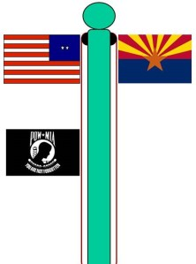 Flag Pole with Two Halyards- Space