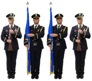 Honor Guard Color Guard at Port