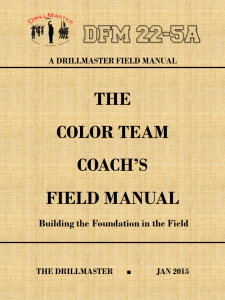 Cover- Front Color Team (Color Guard) Coach's Field Manual
