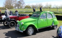 Citroen 2CV Austin 7 Goodwood Breakfast Club Soft Top Sunday May 2016