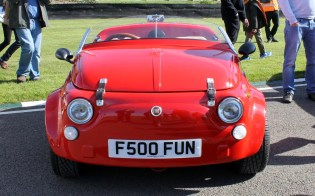 Fiat 500 custom speedster Goodwood Breakfast Club Soft Top Sunday May 2016