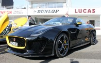 Jaguar F-Type Project 7 Goodwood Breakfast Club Soft Top Sunday May 2016