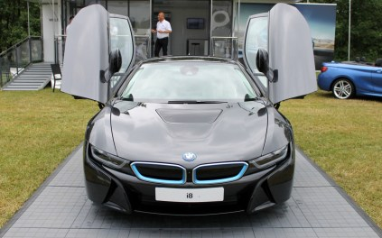 BMW i8 front gullwing doors Cholmondeley Power and Speed 2016