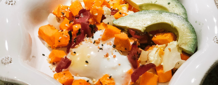 Kid-Friendly Sweet Potato Hash with Maple Bacon | The Driven Mama