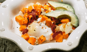 Kid-Friendly Sweet Potato Hash with Maple Bacon | Featured Image