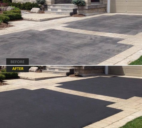 interlock and asphalt sealer