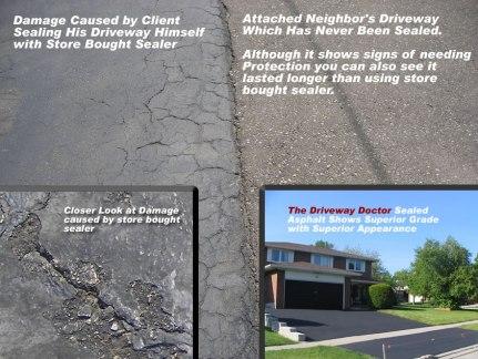 asphalt sealer protection vs store bought sealer