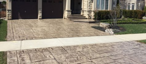 non-slip patterned concrete sealing