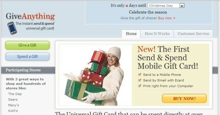 Giveanything Gift Certificates