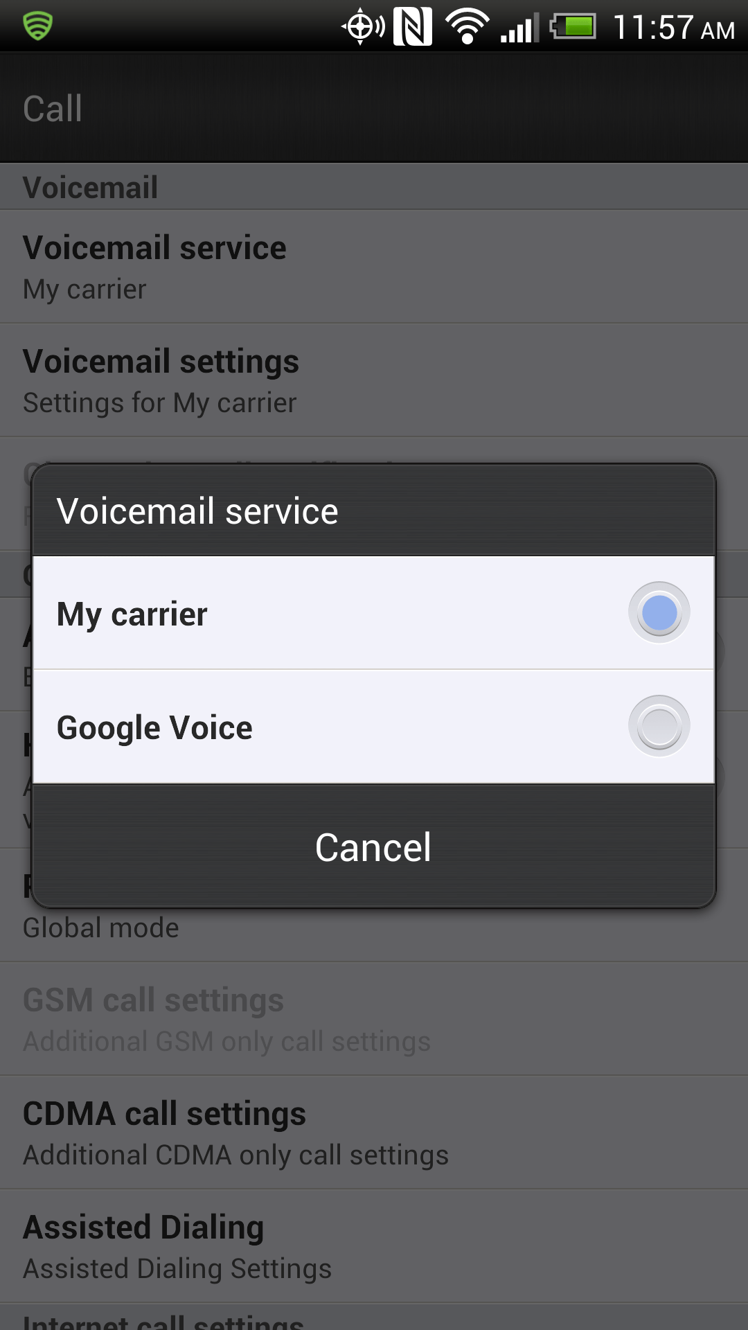 How to use google voice for your primary android phone number and clicking the bubble next to google voice will change how your phone processes your voice messages kristyandbryce Image collections
