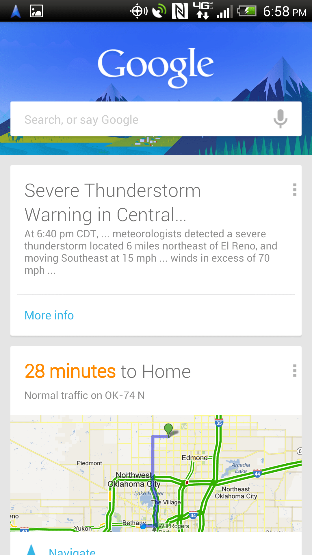 Google Now Includes Severe Weather Warnings & Public Alerts – The